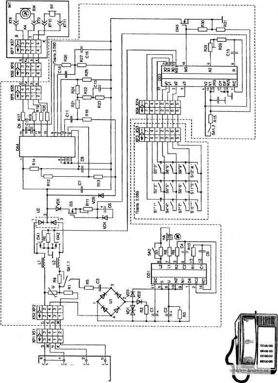 Схема телефонного аппарата теллур